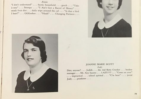 Jody Kyle 59 pictured in her MSJA yearbook and her credits.