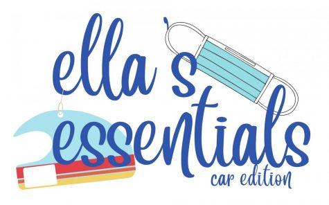 Ella's Essentials: Car Edition Logo made by Gina Princivalle designed with Adobe Illustrator.