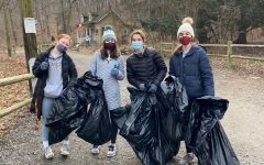 Olivia Forti, Cece Funchion, Elizabeth Dolich, Kate Kelly and Campbell Donovan went on a beautiful sunny morning during winter break to collect trash around the trails near Forbidden Drive and in the park grounds near the surrounding roads.